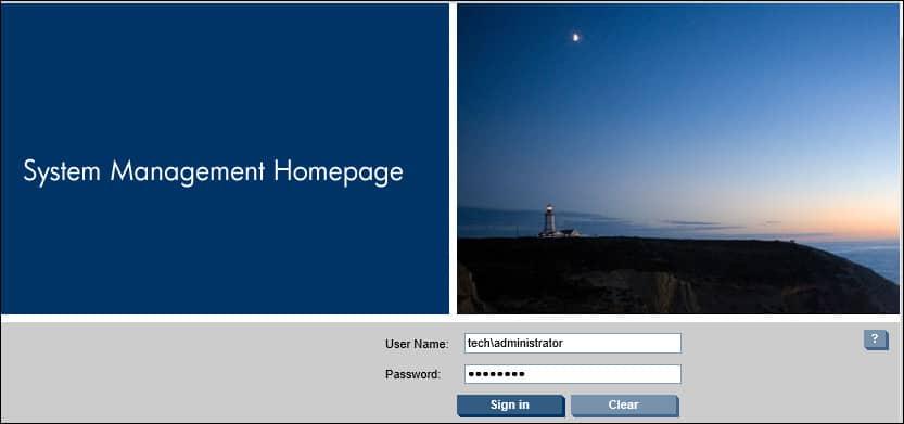 HP System Management Homepage login