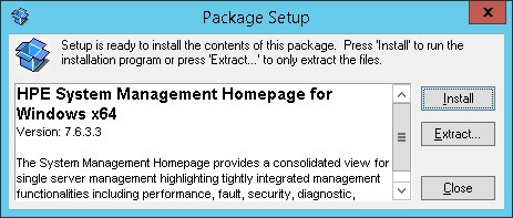 HPE System Management Homepage install