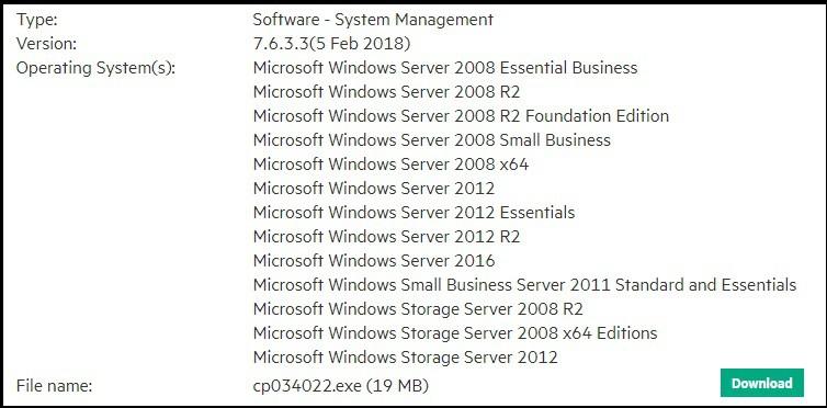 download HP System Management Homepage installation.