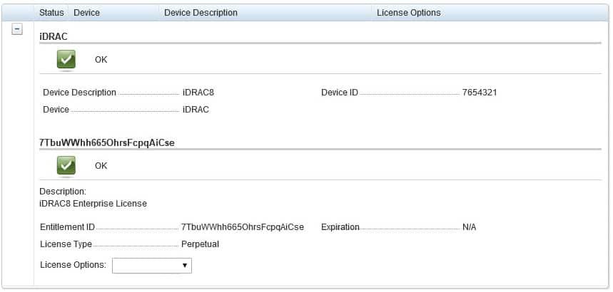 idrac license status
