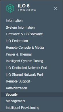 idrac security menu