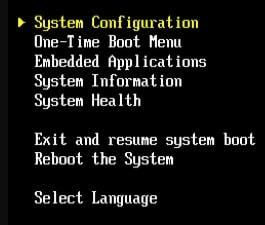 ilo System Configuration
