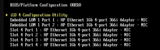 ilo configuration utility
