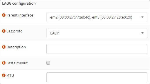 opnsense link aggregation configuration