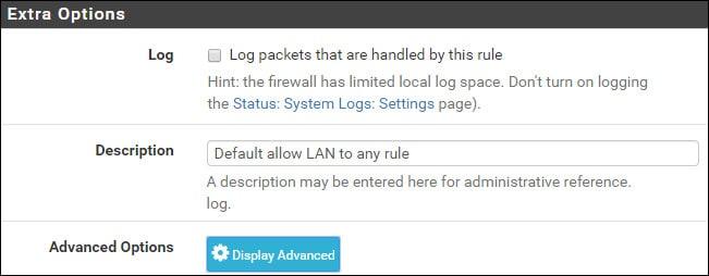 pfsense firewall rule load balancing