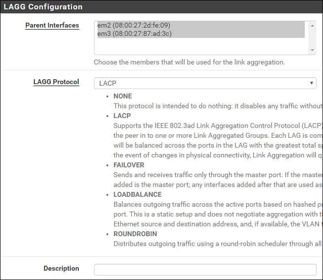 pfsense link aggregation