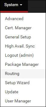 pfsense multiple wan routing menu