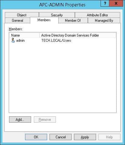 APC UPS Active directory authentication