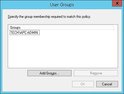 APC UPS - Active directory group
