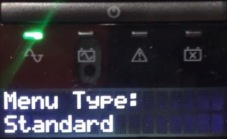 APC UPS Menu standard