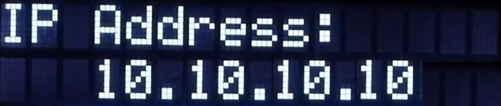 APC UPS discover Ip address LCD display