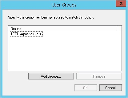 Apache Active directory authentication group