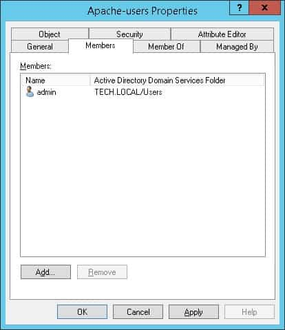 Apache Active directory user authentication