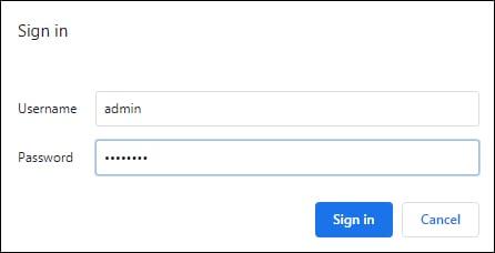 Apache login form