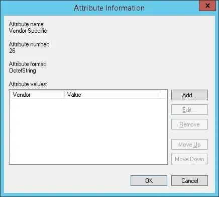 Microsoft Radius attribute information