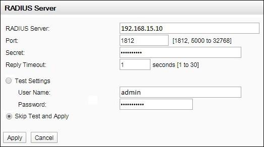 apc radius authentication configuration