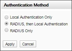 apc radius authentication method
