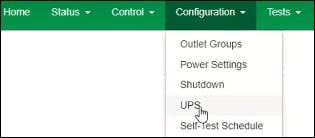 apc ups configuration menu
