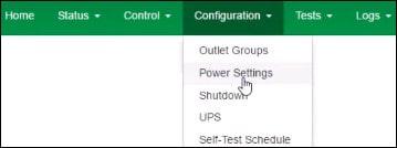 apc ups power settings menu