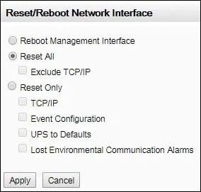 apc ups reset nmc2