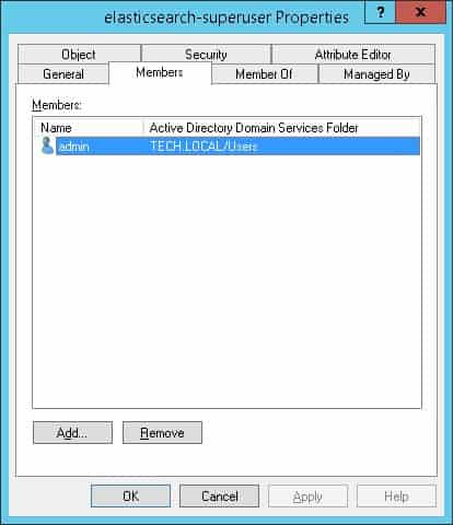 Elasticsearch active directory administrators