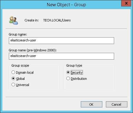 Elasticsearch active directory users