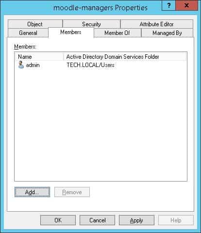 Moodle Active directory administrators