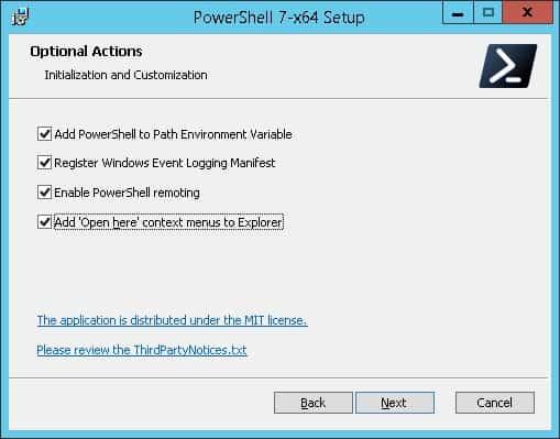 powershell7 options