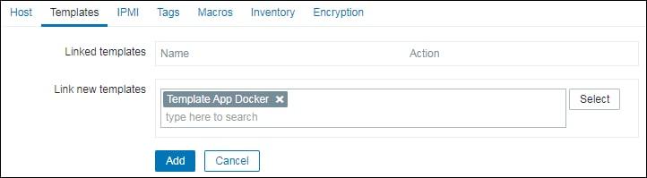 Zabbix monitor docker container