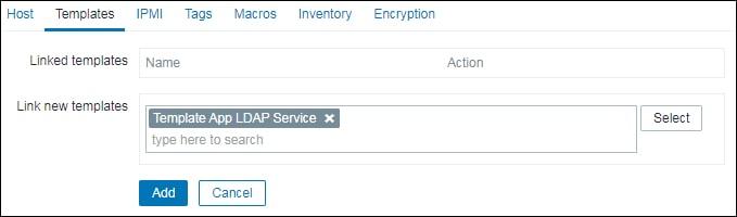 Zabbix monitoring LDAP