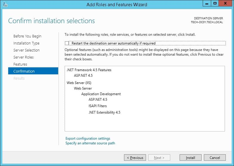 Enabling ASPX IIS