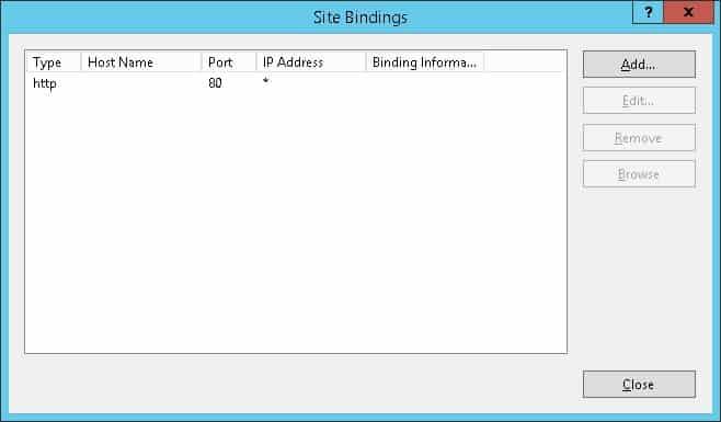 IIS Bindings