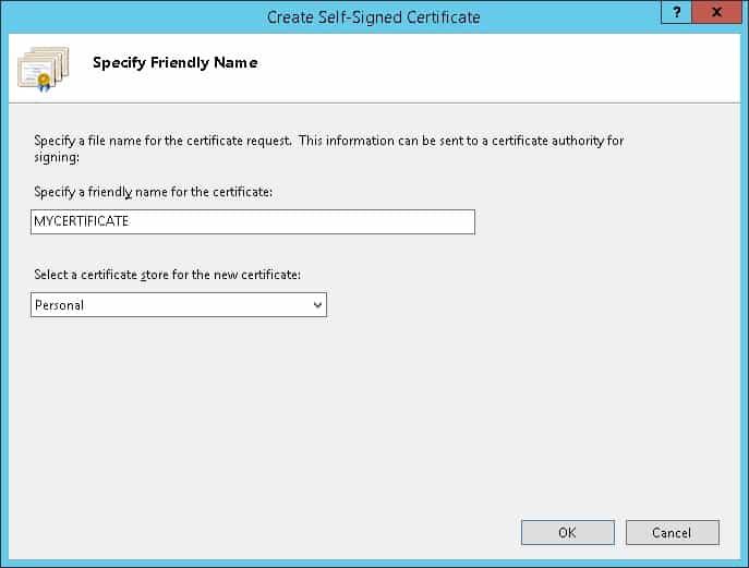 IIS HTTP Certificate