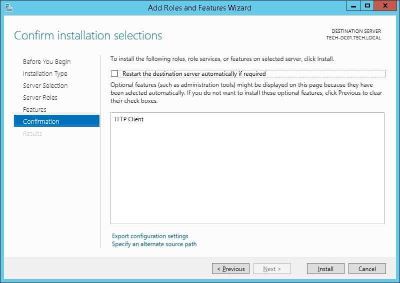 Tftp client install windows server