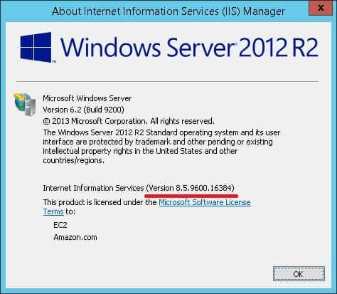 Verify IIS Version Installed