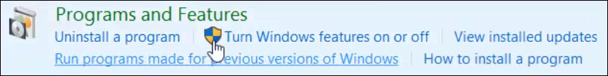 Windows - Program and features