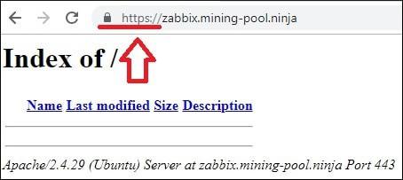 Zabbix HTTPS Virtual Host