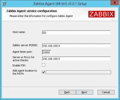 Zabbix Monitor IIS