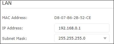 ARCHER C6 - Network configuration