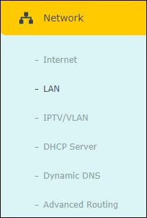 ARCHER C6 - Network menu