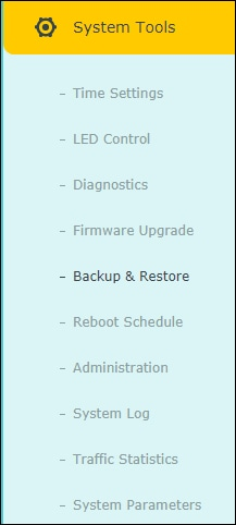 ARCHER C6 - System menu