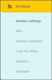 ARCHER C6 - Wireless menu