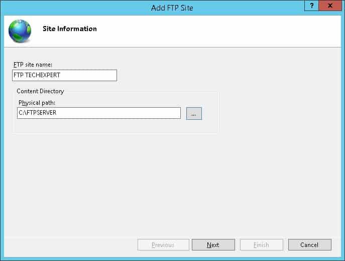 Windows - Add FTP SITE