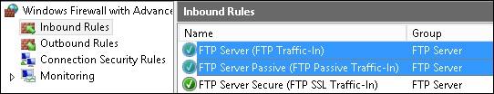 Windows - FTP firewall