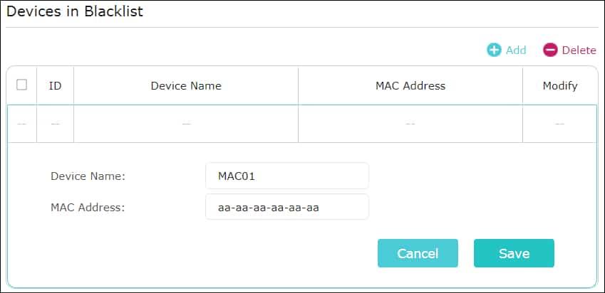 AC1200 - Block Mac address