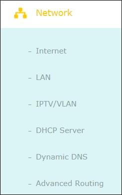 Archer ac1200 network menu