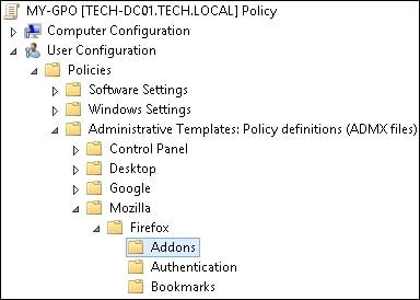 GPO - Block extensions installation Firefox