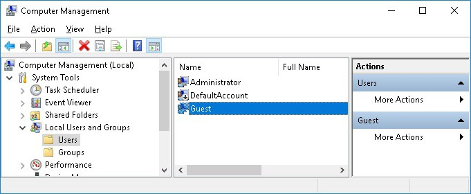 GPO - Disable Guest user accout