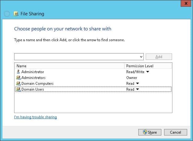 GPO - Sharing permission