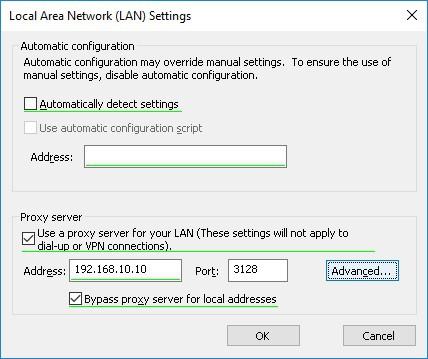 GPO - Proxy configuration Windows